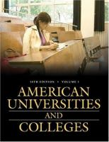 Cover image for American universities and colleges