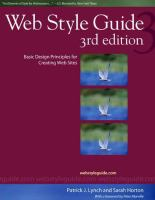 Cover image for Web style guide : basic design principles for creating Web sites