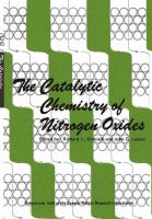 Cover image for The catalytic chemistry of nitrogen oxides
