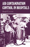 Cover image for Air contamination control in hospitals