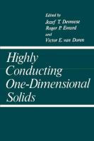 Cover image for Highly conducting one-dimensional solids