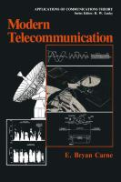 Cover image for Modern telecommunication