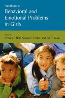 Cover image for Handbook of behavioral and emotional problems in girls