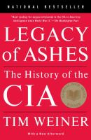 Cover image for Legacy of ashes : the history of the CIA
