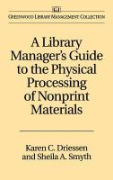 Cover image for A library manager's guide to the physical processing of nonprint materials