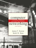 Cover image for Computer networking : a top-down approach featuring the Internet