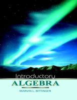 Cover image for Introductory algebra