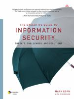 Cover image for The executive guide to information security : threats, challenges, and solutions
