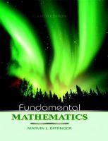 Cover image for Fundamental mathematics