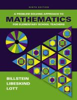 Cover image for A problem solving approach to mathematics for elemenatry school teachers