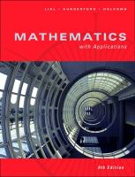 Cover image for Mathematics with applications : in the management, natural, and social sciences