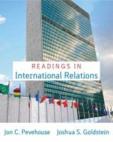 Cover image for Readings in international relations