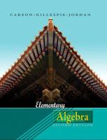 Cover image for Elementary algebra