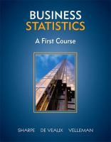Cover image for Business statistics : a first course