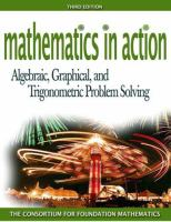 Cover image for Mathematics in action : algebraic, graphical, and trigonometric problem solving