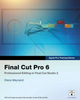 Cover image for Apple pro training series : final cut pro 6