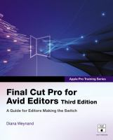 Cover image for Apple pro training series : final cut pro for avid editors