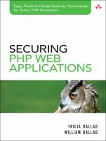 Cover image for Securing PHP web applications