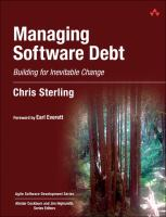 Cover image for Managing software debt : building for inevitable change