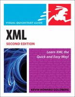 Cover image for XML : visual quickstart guide