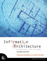Cover image for Information architecture : lueprints for the web