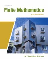 Cover image for Finite mathematics with applications : in the management, natural, and social sciences