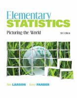 Cover image for Elementary statistics picturing the world
