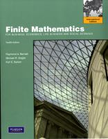 Cover image for Finite mathematics : for business, economics, life sciences and social sciences
