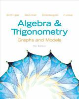 Cover image for Algebra and trigonometry : graphs and models