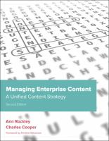 Cover image for Managing enterprise content : a unified content strategy