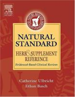 Cover image for Natural standard herb & supplement reference : evidence-based clinical reviews