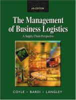 Cover image for Management of business logistics :  a supply chain perspective
