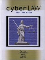 Cover image for Cyberlaw : text and cases