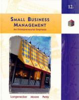 Cover image for Small business management :  an entrepreneurial emphasis