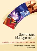 Cover image for Operations management : goods, services and value chains