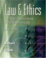 Cover image for Law & ethics in the business environment
