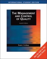 Cover image for The management and control of quality