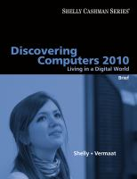 Cover image for Discovering computers 2010 : living in a digital world : brief
