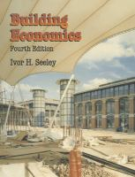 Cover image for Building economics : appraisal and control of building design cost and efficiency