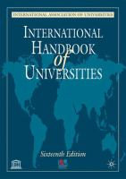 Cover image for International handbook of universities