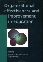 Cover image for Organizational effectiveness and improvement in education