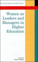 Cover image for Women as leaders and managers in higher education