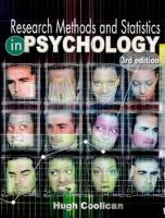 Cover image for Research methods and statistics in psychology