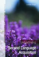 Cover image for Understanding second language acquisition