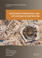 Cover image for Geotechnics Fundamentals and Applications in Construction : New Materials, Structures, Technologies and Calculations