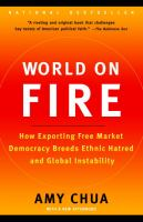 Cover image for World on fire : how exporting free market democracy breeds ethnic hatred and global instability