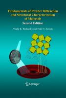 Cover image for Fundamentals of powder diffraction and structural characterization of materials