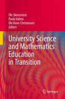 Cover image for University science and mathematics education in transition