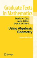 Cover image for Using algebraic geometry