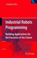 Cover image for Industrial robots programming : building applications for the factories of the future